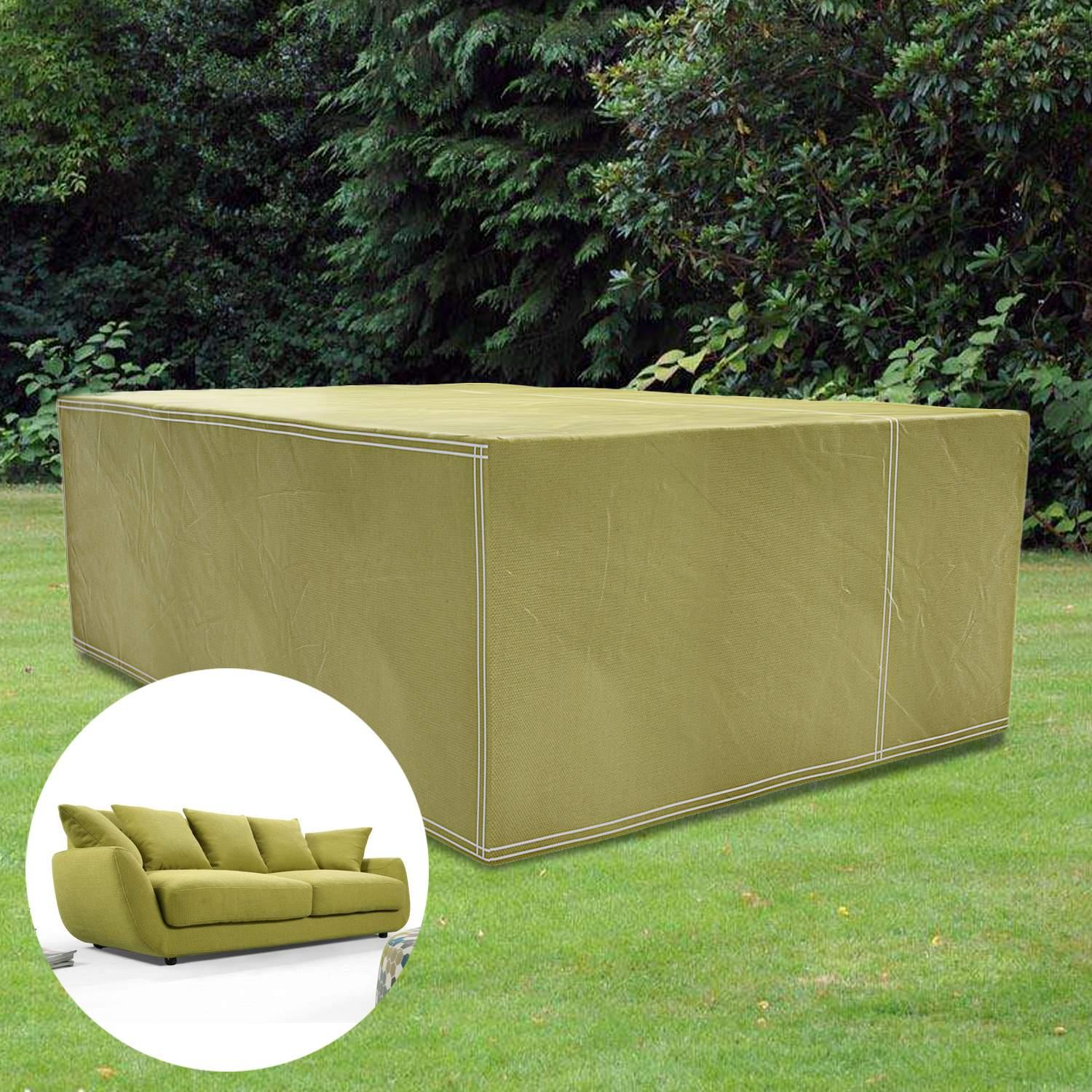 Besting Furniture Cover Large Rectangular Waterproof Garden Outdoor Patio Table Chairs Covers Wheat Army Green